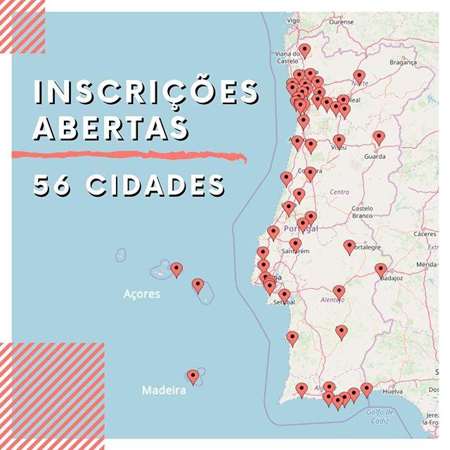 Inscrições abertas 2020 em 56 cidades